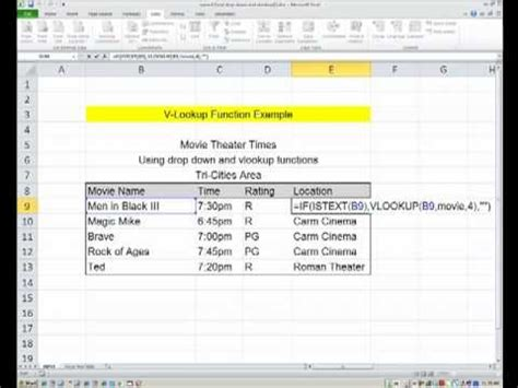 Excel: How to add drop-down menus and practical use of the