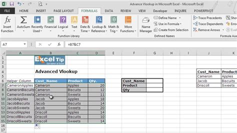 Advance Vlookup in Microsoft Excel - YouTube