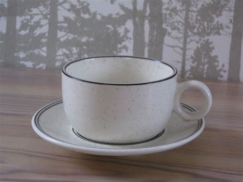 Arabia BIRKA coffee cup and saucer, designed by Stig