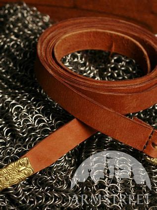 Handmade medieval leather belt with casting for